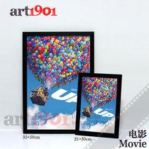 飞屋环游记 Up气球蓝天电影海报客厅装饰画-有框画 价格:31.85