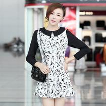 2013夏装新款韩版女连衣裙VS正品修身气质高贵翻领连身裙长袖裙子 价格:89.00