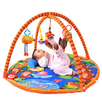 正品拉拉布书猴子捞月游戏垫婴儿游戏毯宝宝音乐健身架爬行垫玩具 价格:247.00