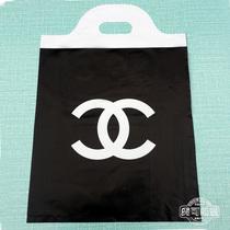 五件包邮 黑香奈尔35*48CM花边塑料袋 手提袋礼品袋 服装袋子批发 价格:18.50