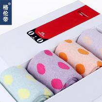 格伦帝秋冬女毛圈袜子圆点中筒袜加厚女士袜子保暖袜地板袜礼盒装 价格:39.00