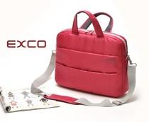 外单 时尚简约深桃红色多功能加厚防震女士手提电脑包 公文包 价格:46.80