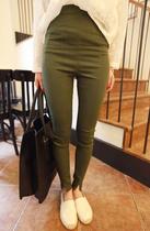 [elina sea]特!推荐款无敌好弹力超显瘦裤脚分叉纯色小脚裤 3色 价格:59.00