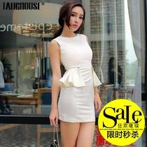 唐家欧美原创2013夏女装新品气质时尚两穿荷叶裙摆包臀修身连衣裙 价格:59.00