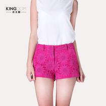 2013夏装新款欧美时尚太阳花蕾丝刺绣热裤休闲裤显瘦 蕾丝短裤 女 价格:148.00