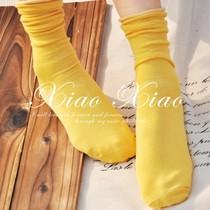 十双包邮!日系纯棉春秋袜袜套女袜子堆堆袜 糖果色凉鞋袜 中筒袜 价格:4.64