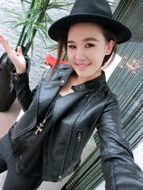 秋季新款欧美风机车皮衣女黑色修身皮衣外套短款休闲皮衣夹克 PU 价格:109.99
