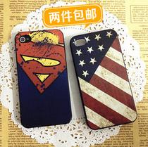 苹果 iphone5手机壳 iphone4s手机壳 保护壳 浮雕彩绘 个性标志壳 价格:9.90