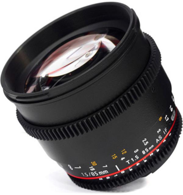 三阳 samyang 85mm T1.5 人像镜头 VDSLR 全画幅 无极光圈 电影头 价格:2200.00