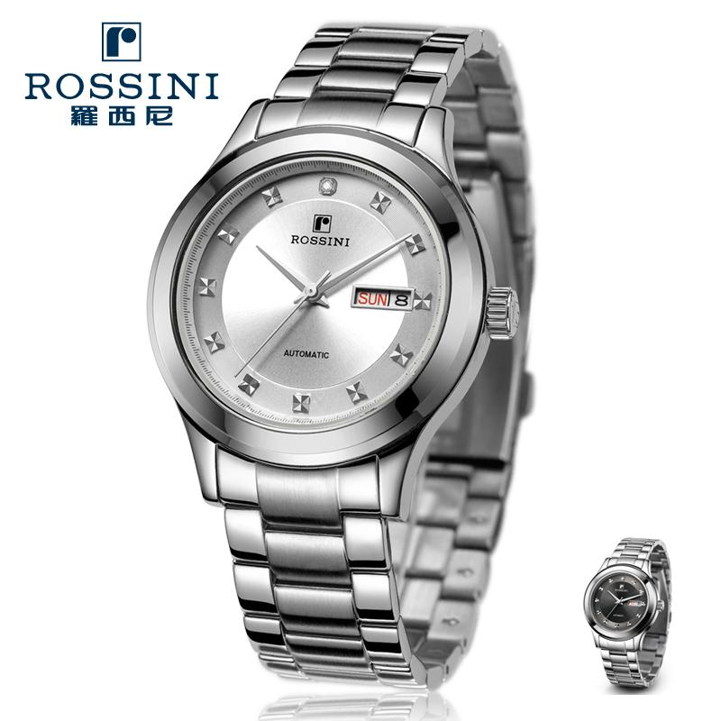 罗西尼手表不锈钢透视后盖进口机械机芯男表R5479  特价情侣表 价格:1380.00