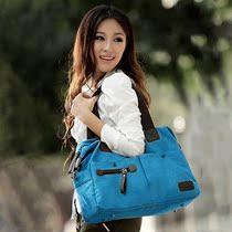 2013新款dhh帆布包包铆钉女包韩版单肩包斜挎包复古潮时尚女式包 价格:29.00