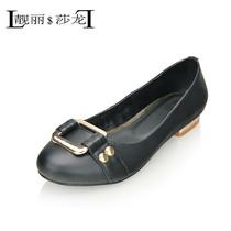 靓丽莎龙2013新款女鞋低跟单鞋百搭牛皮鞋舒适工作鞋休闲真皮包邮 价格:154.80