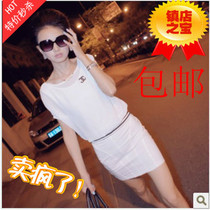 欧洲站夏装新款2013女装Q2 双C字母 V型露背包臀雪纺连衣裙 价格:49.00
