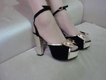 鱼嘴欧美女士凉鞋 2013夏款新款罗马鞋 防水台粗跟高跟鞋精品女鞋 价格:28.60