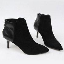 2013秋冬新款真皮女鞋外贸欧美尖头细高跟短靴OL女靴百搭裸靴单靴 价格:339.00