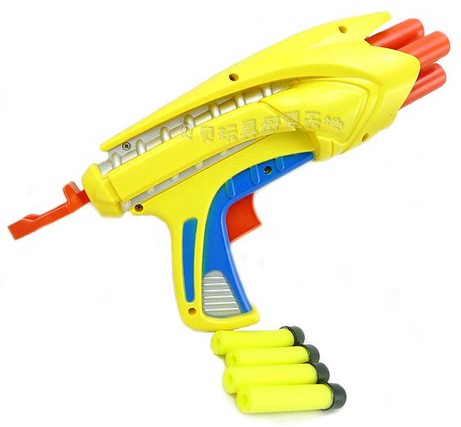 好玩 EVA泡沫安全软弹头枪 儿童射击玩具 3岁以上 配4发弹 .25 价格:13.90