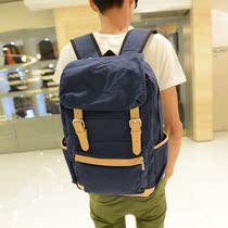 潮流休闲帆布包男士旅行包大容量包双肩包男韩版新款双肩男女书包 价格:86.40