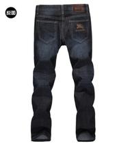 春夏新款BURBERRY/巴宝莉男士修身直筒商务休闲简约白搭牛仔裤潮 价格:178.00