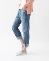 【榆树下】音乐地球 日本原单高品质刺绣红边牛仔裤直筒裤B-873 价格:108.00