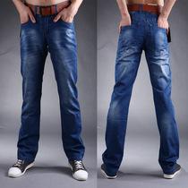 Wrangle牧马人牛仔裤 男 裤子 韩版 潮 新款春装 直筒修身长裤 价格:98.00