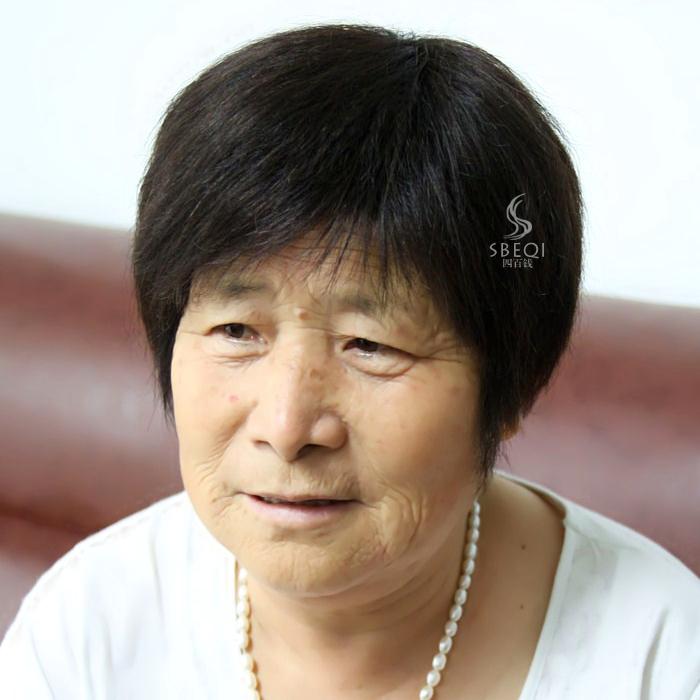 中老年假发女式真发短发短直发气质妈妈款假发逼真自然奶奶假发 价格:278.80