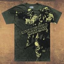 美国进口7.62design男士t恤 个性印花T恤军迷短t 勇往直前2435 价格:289.00