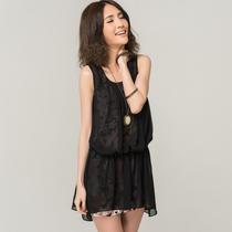 伊卡素 2013夏季新款韩版修身不规则裙吊带背心裙雪纺打底裙无袖 价格:69.00