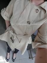 欧洲站 2013秋款 MAX MARA原单宽松七分袖短款斗篷型米色风衣 价格:528.00