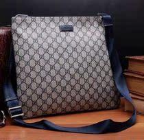 香港代购 Gucci古奇男包 古驰单肩背包斜跨包超薄男士包包201446 价格:1350.00