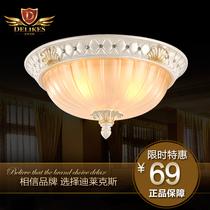迪莱克斯 欧式吸顶灯 高档简约复古田园卧室阳台过道吸顶灯1082-3 价格:69.00