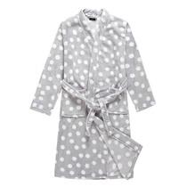 秋冬季睡袍加肥加大女士珊瑚绒保暖可爱圆点浴袍休闲家居服KS1138 价格:69.00