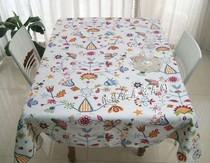 特价促销纯棉布艺桌布田园台布精品加厚帆布茶几布小草可定做尺寸 价格:17.85