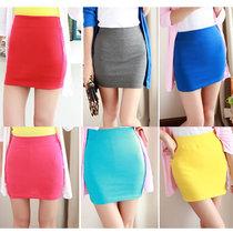 【好评返现】2013韩版糖果色针织棉弹力短裙半身包臀裙 包邮 价格:10.90