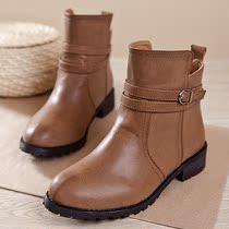 2013春秋新款拉链马丁靴 女 英伦短靴 机车女靴子 真皮马丁短靴子 价格:99.90