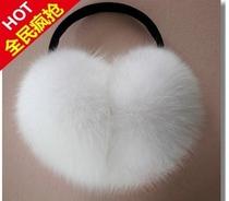 2013韩版时尚 范冰冰款超大仿狐狸毛耳套 价格:16.00