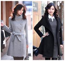 【限时清仓价】冬季气质收腰修身羊绒长款大衣 韩版加厚外套 价格:69.90