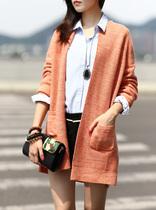独家中长款粗棒针毛衫开衫外套女长袖2013秋装欧美宽松大毛衣 3色 价格:122.55