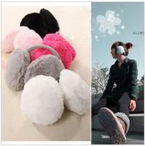 可爱保暖长毛绒耳罩耳套 后带式防护耳套 糖果色耳罩 价格:6.80