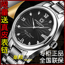 正品瑞士嘉年华 名匠精钢带皮带男表 100米防水 机械表 男士手表 价格:218.00