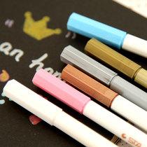 安安家日韩国文具 清新彩色金属笔 水彩笔记号笔 DIY黑卡纸油漆笔 价格:2.80