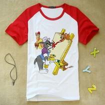 韩版猫和老鼠Tom and Jerry儿童夏装短袖男女童装T恤亲子装表演装 价格:27.74