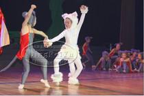 新款儿童猫鼠之夜演出服装猫鼠之夜舞蹈白猫和灰老鼠卡通道具特价 价格:49.00