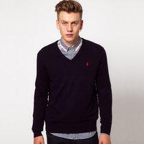 正品保罗polo2013秋装男装长袖套头毛衣男士修身V领针织衫打底衫 价格:144.00