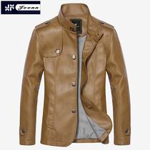 九岸 2013新款男士皮衣男短款PU皮 韩版修身立领外套男装皮夹克衫 价格:139.00