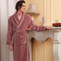 美标安妮芬专柜正品男士考拉绒长袖睡袍休闲睡衣家居服35568 价格:199.00