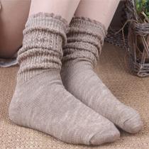 3双包邮复古森女风中筒复古堆堆袜短靴袜子蕾丝花边棉线短袜女秋 价格:14.00