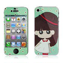 苹果4手机贴膜 iPhone4S贴膜 卡通iPhone4保护膜前后闪粉钻石彩膜 价格:19.90