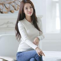 【天天特价】秋冬新款韩版修身毛衣长袖翻领打底衫上衣女装针织衫 价格:48.95