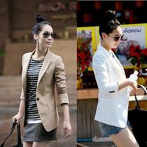 【天天特价】小西装韩版修身春秋外套品牌春装新款女装中长款休闲 价格:99.00