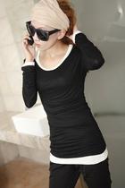 2013新款莫代尔韩版女夏秋装上衣大码显瘦长袖圆领打底T恤打底衫 价格:23.00